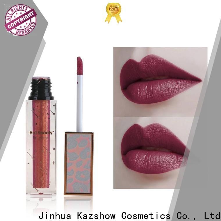 Kazshow sparkly lip gloss advanced technology for lip