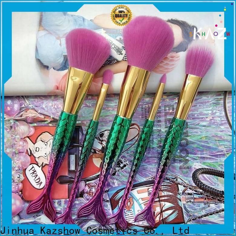 Kazshow best makeup brush set china wholesale website for face makeup