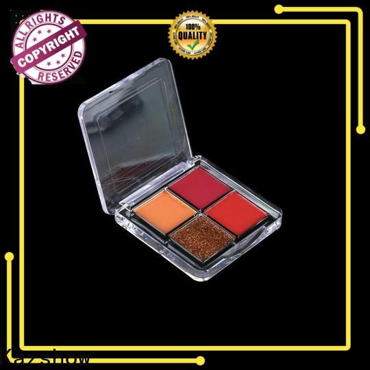 Kazshow colorful natural eyeshadow palette cheap wholesale for eyes makeup