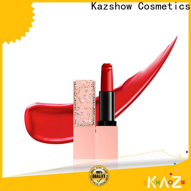 Kazshow unique design red lipstick makeup online wholesale market for women