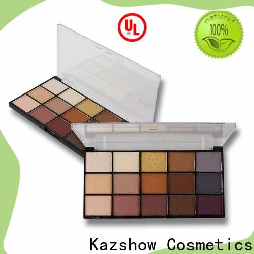 Kazshow glitter professional eyeshadow palette wholesale products for sale for eyes makeup