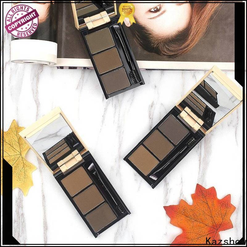 Kazshow Anti-smudge eyebrow filler powder wholesale products to sell for young ladies