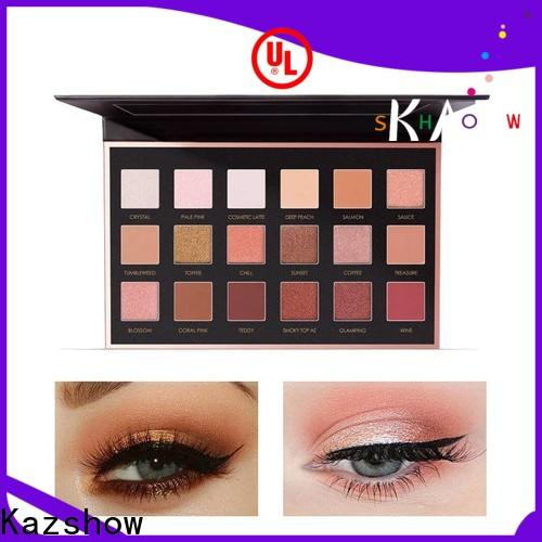 Kazshow various colors natural eyeshadow palette cheap wholesale for women