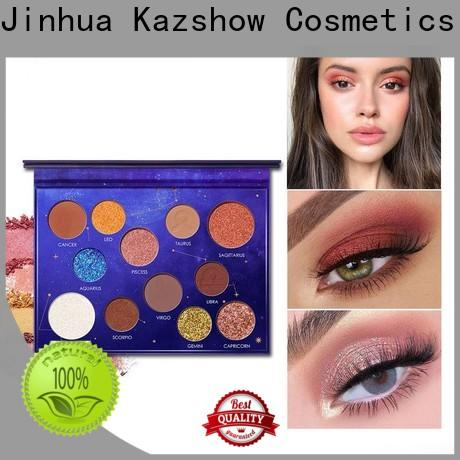 Kazshow various colors pro eyeshadow palette wholesale products for sale for eyes makeup