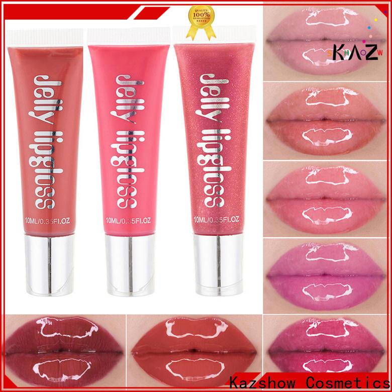 Kazshow light pink lip gloss environmental protection for lip makeup
