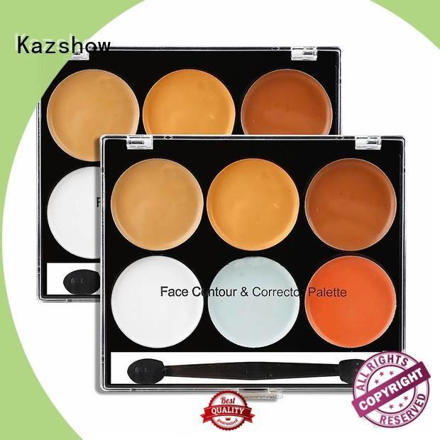 Kazshow waterproof powder concealer palette for face makeup