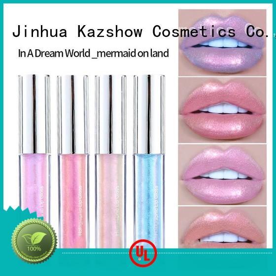 Kazshow long lasting lip gloss for girls environmental protection for lip makeup