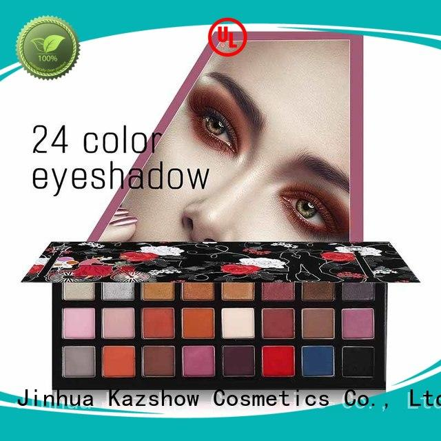 Kazshow various colors pigmented eyeshadow palette for women