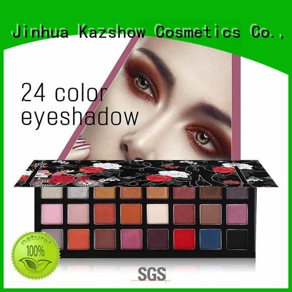 Kazshow waterproof professional eyeshadow palette manufacturer for eyes makeup