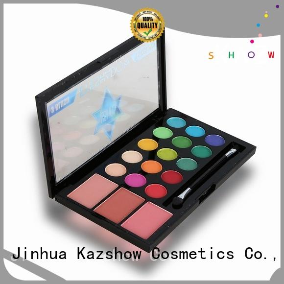 Kazshow colorful professional eyeshadow palette cheap wholesale for women