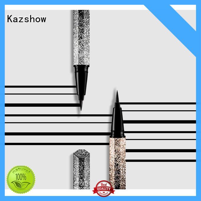 Kazshow Anti-smudge glitter eyeliner pen china factory for makeup