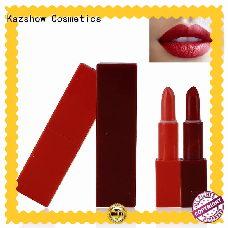 Kazshow dark red lipstick matte from China for women