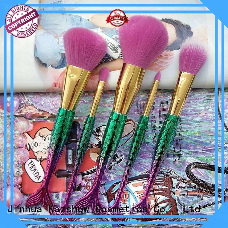 Kazshow popular full makeup brush set china wholesale website for face makeup