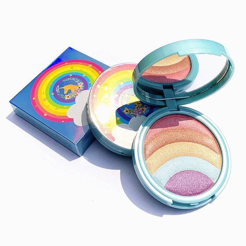 5 Colors Rainbow Highlight Plate