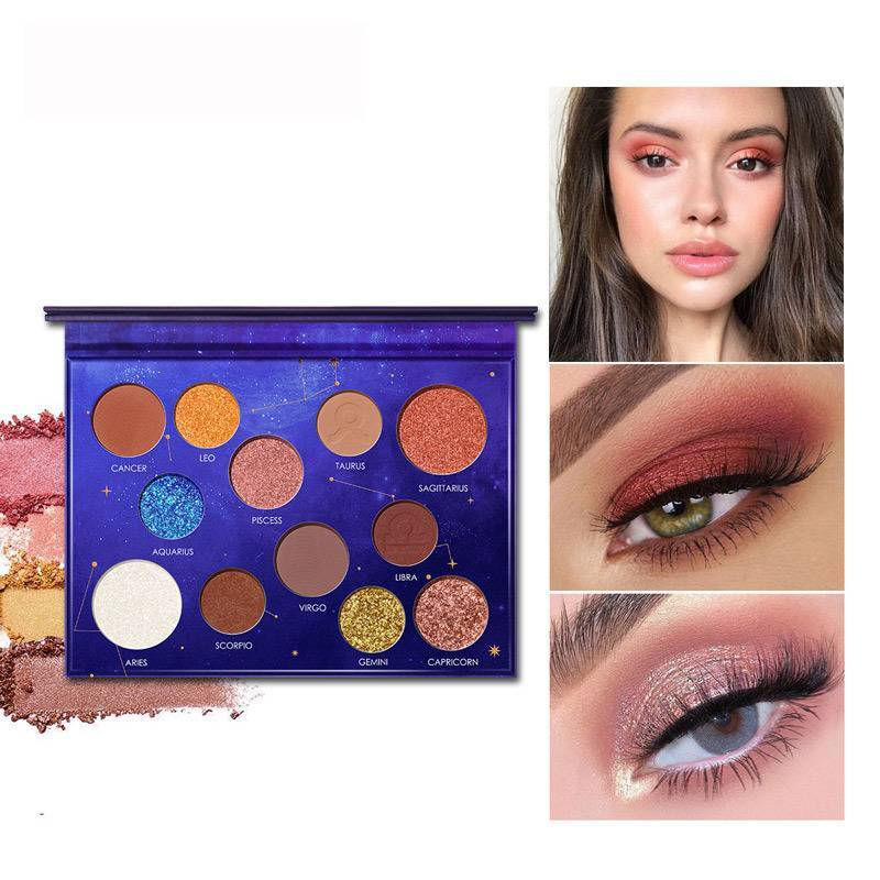 12 Constellation Eyeshadow Palette