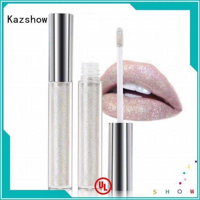 Kazshow sparkle lip gloss environmental protection for lip makeup
