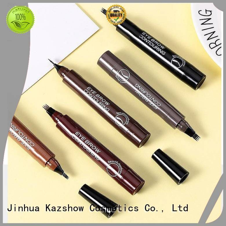Kazshow waterproof eyebrow pencil factory for eyebrow