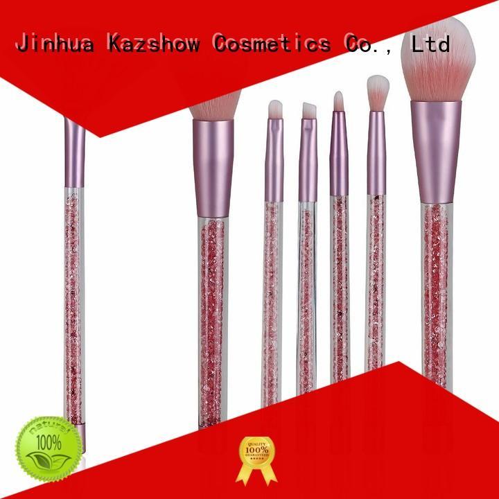 Kazshow pink makeup brushes directly sale for cheek makeup
