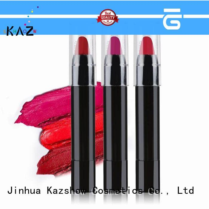 Kazshow unique design light pink lipstick for lips makeup