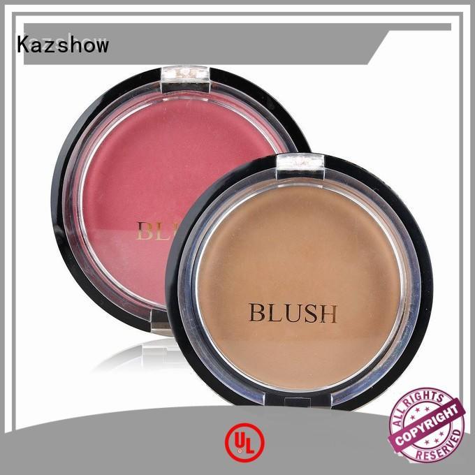 Kazshow fashionable pink blush makeup for cheek