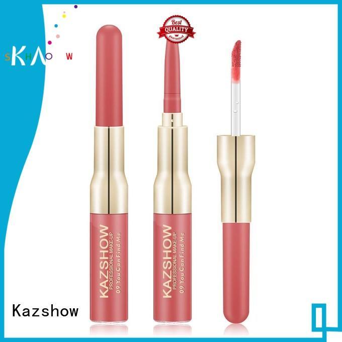 Kazshow red lip gloss environmental protection for lip