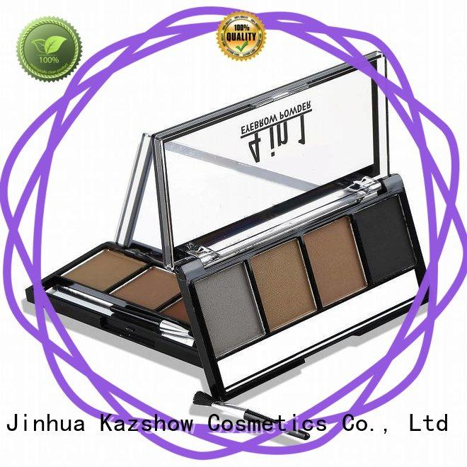Kazshow dark brown eyebrow powder from China for eyes makeup
