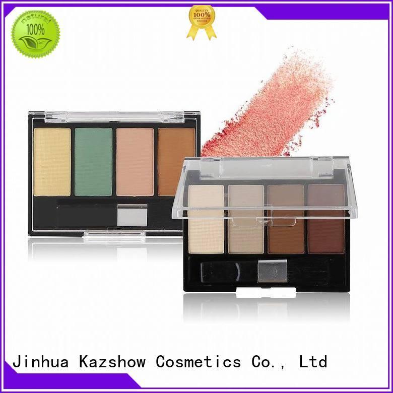 Kazshow permanent good eyeshadow palettes cheap wholesale for eyes makeup