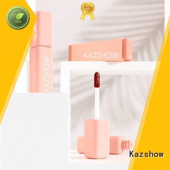 Kazshow tinted lip gloss environmental protection for lip