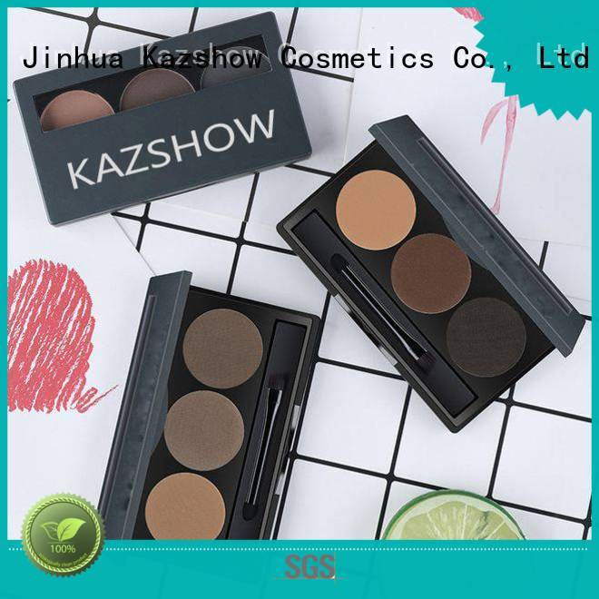 Anti-smudge dark brown eyebrow powder from China for eyes makeup