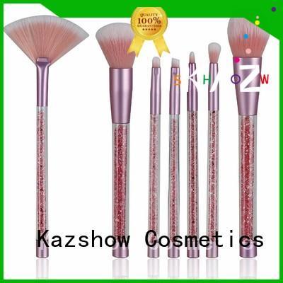 Kazshow popular full makeup brush set factory price for eyes makeup