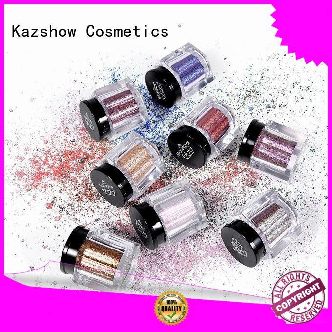 Kazshow colorful matte eyeshadow palette cheap wholesale for eyes makeup