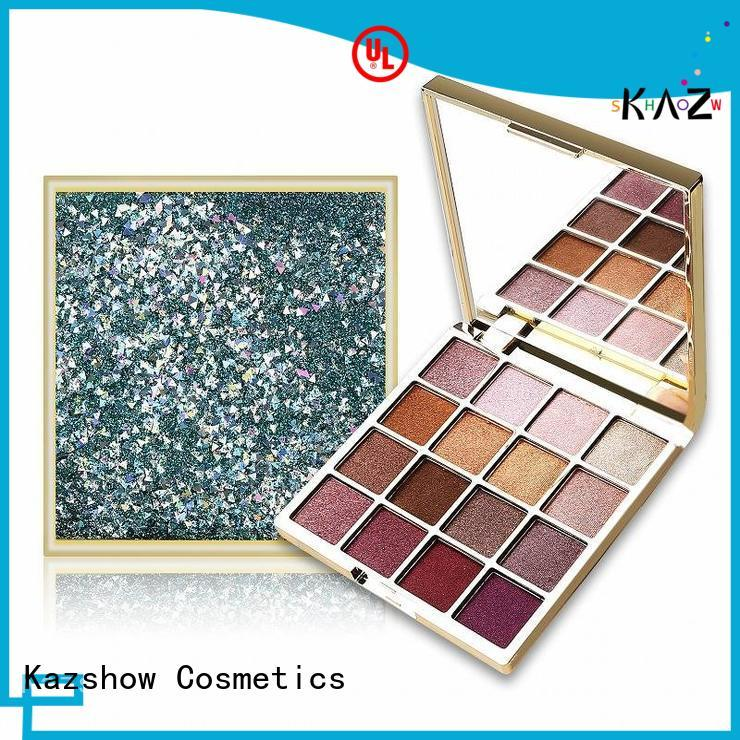Kazshow Anti-smudge orange eyeshadow palette for beauty