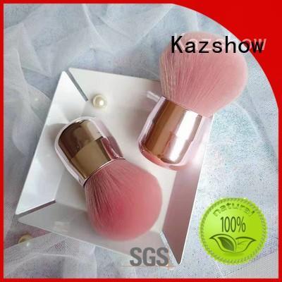 Kazshow beautiful design pink makeup brushes factory price for highlight makeup
