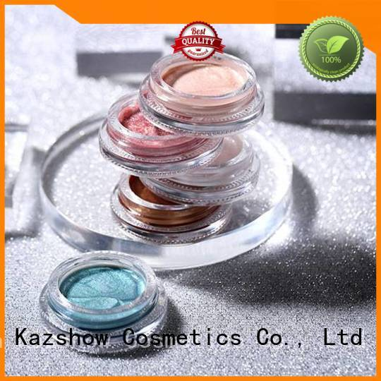 Kazshow waterproof liquid shimmer eyeshadow factory price for eyes makeup