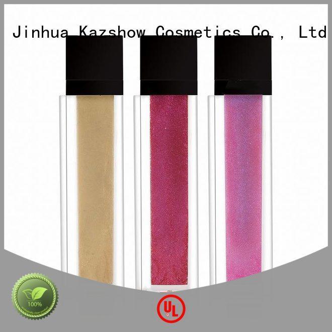 Kazshow non-stick shiny lip gloss advanced technology for business