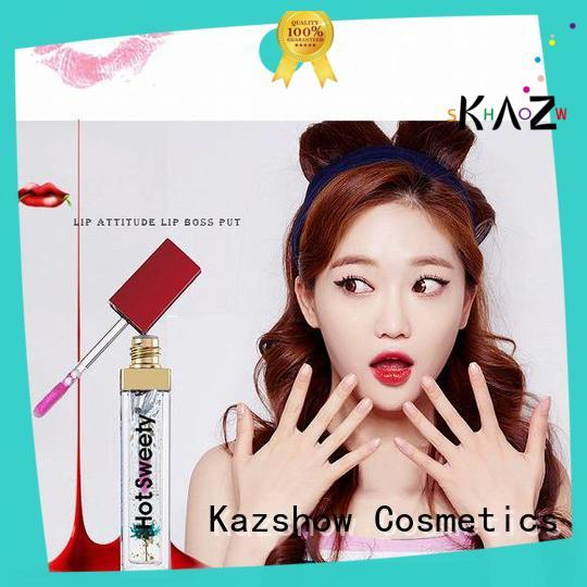 Kazshow popular lip gloss oil personalized for lips makeup