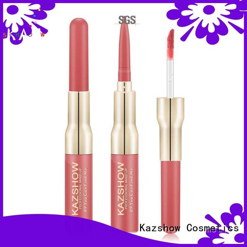 Kazshow sparkly matte color lip gloss for business